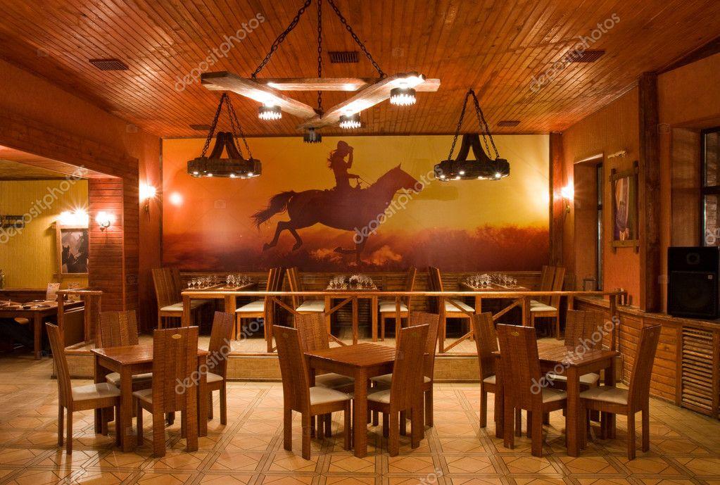 Restaurant interior — stock photo man kelly