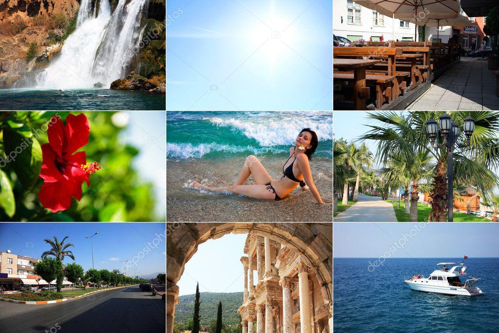 Summer travel collage