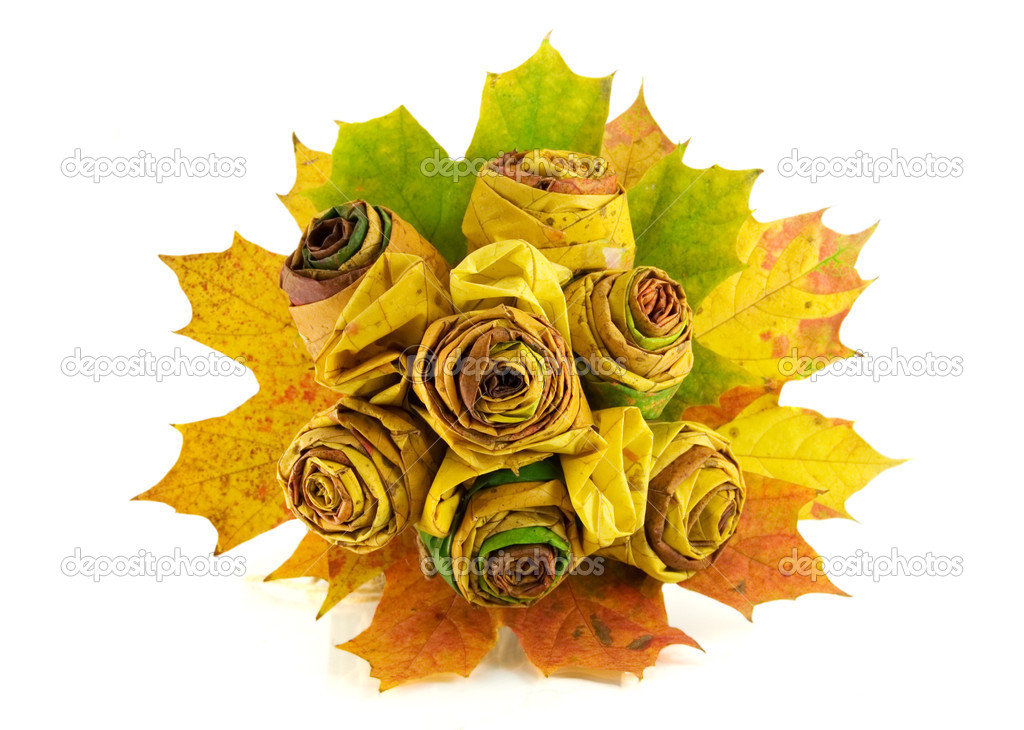 Feuilles d 39 automne jaune bouquet photographie soyka564 - Bouquet d automne ...
