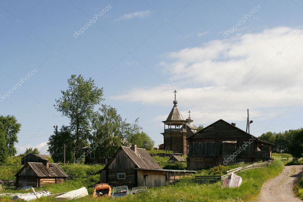 Russian village.