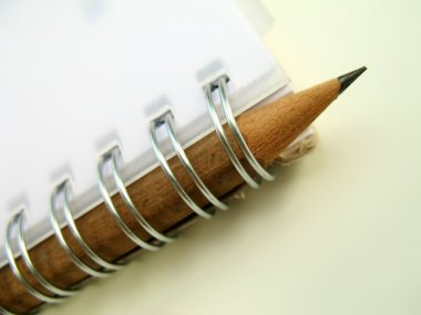 Ring binder and pencil