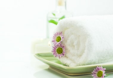 Towel with flowers