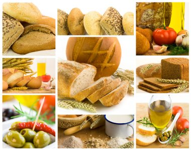 Beautiful healthy food collage