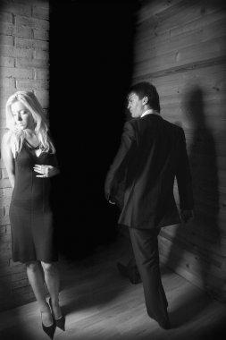 Photo with idea of quarrel or divorce