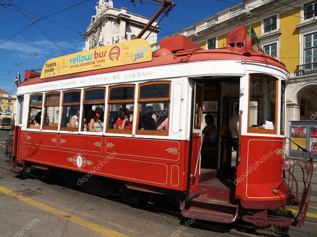 Обои lisbon, трамвай, ночь. Города foto 19