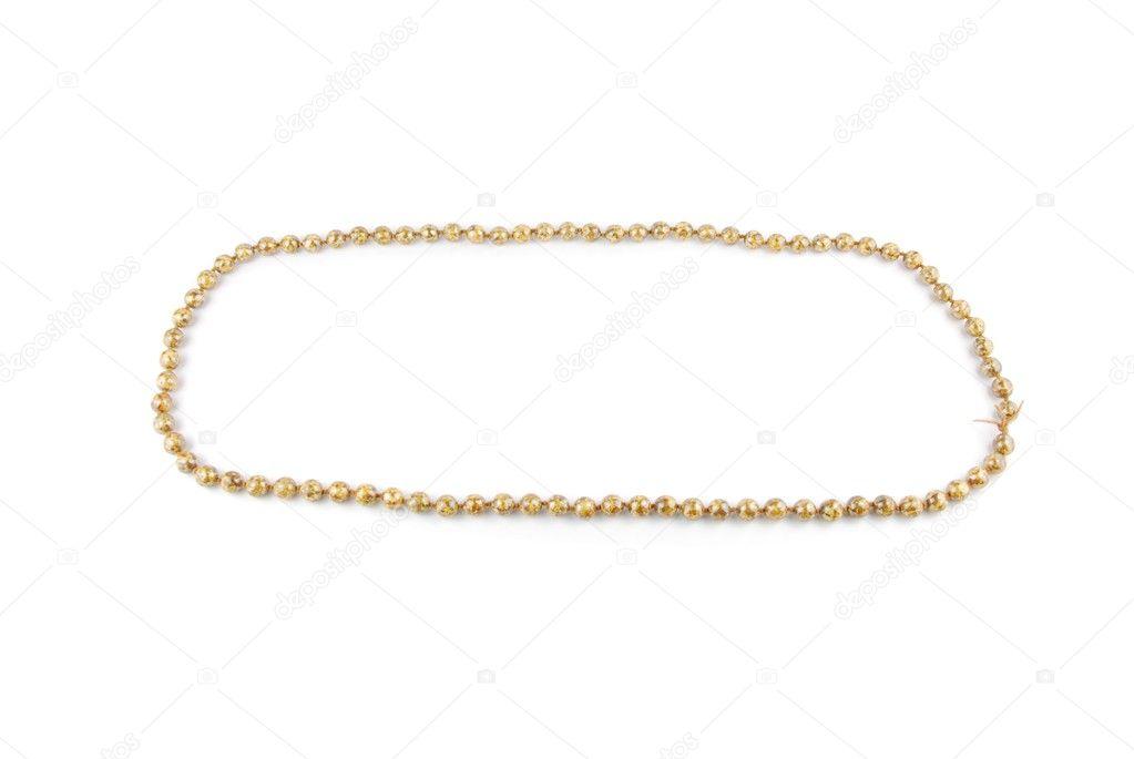 a38908d86448 Pista de carreras con un collar de perlas aislado sobre fondo blanco -  descargar musica collar de perlas — Foto de ...