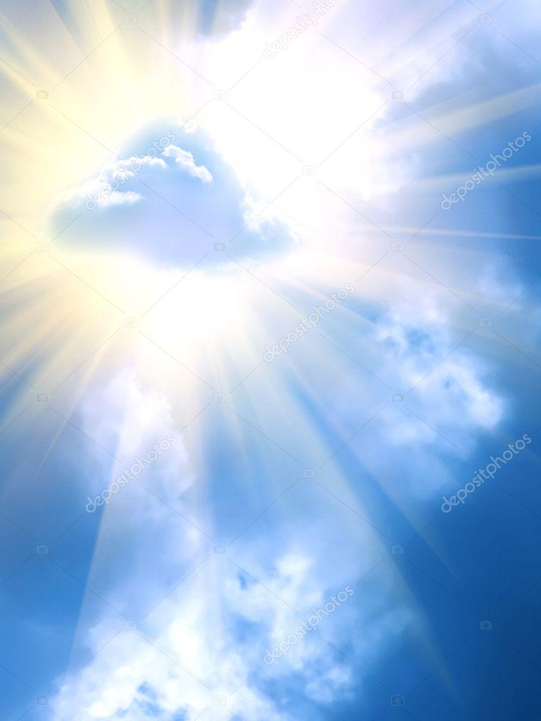 Sun clouds sky