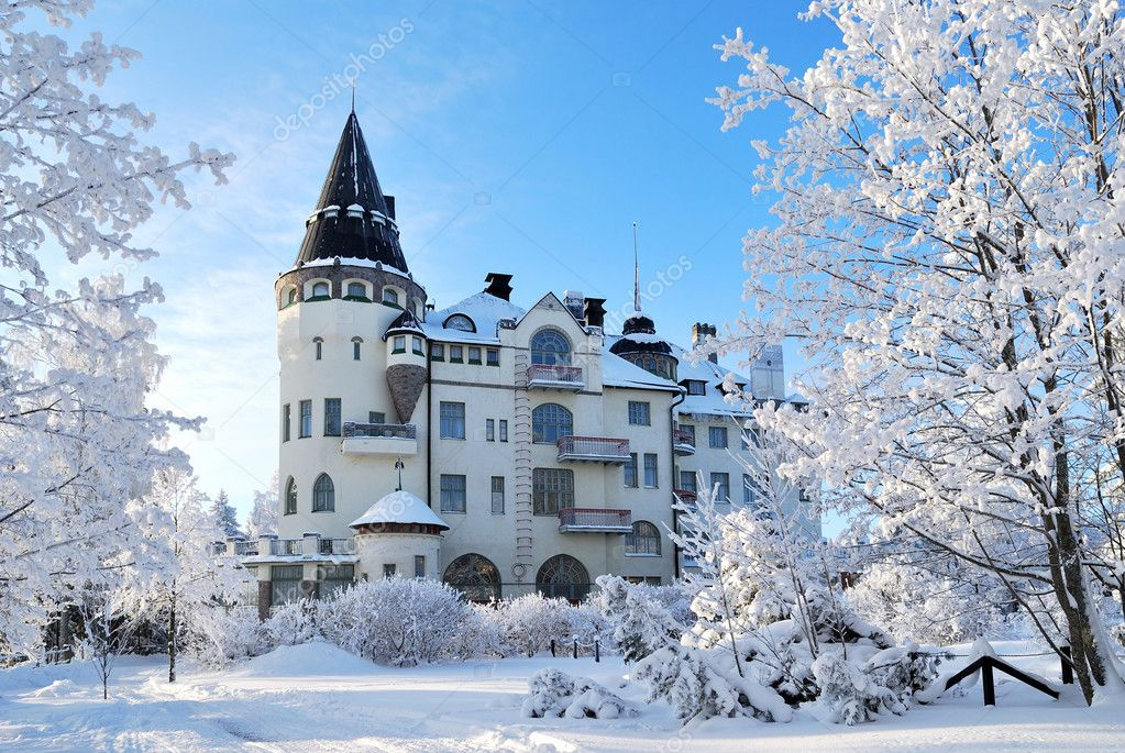 Imatra, Finland, in winter