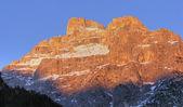 Fotografie Dolomity pohoří při západu slunce, Itálie, fe