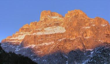 Dolomites Mountains at Sunset, Italy, Fe
