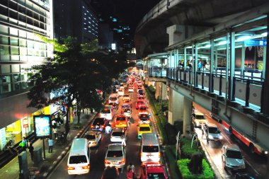 Bangkok Night Traffic, Thailand, August