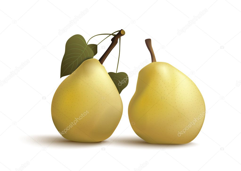 Isolated pears