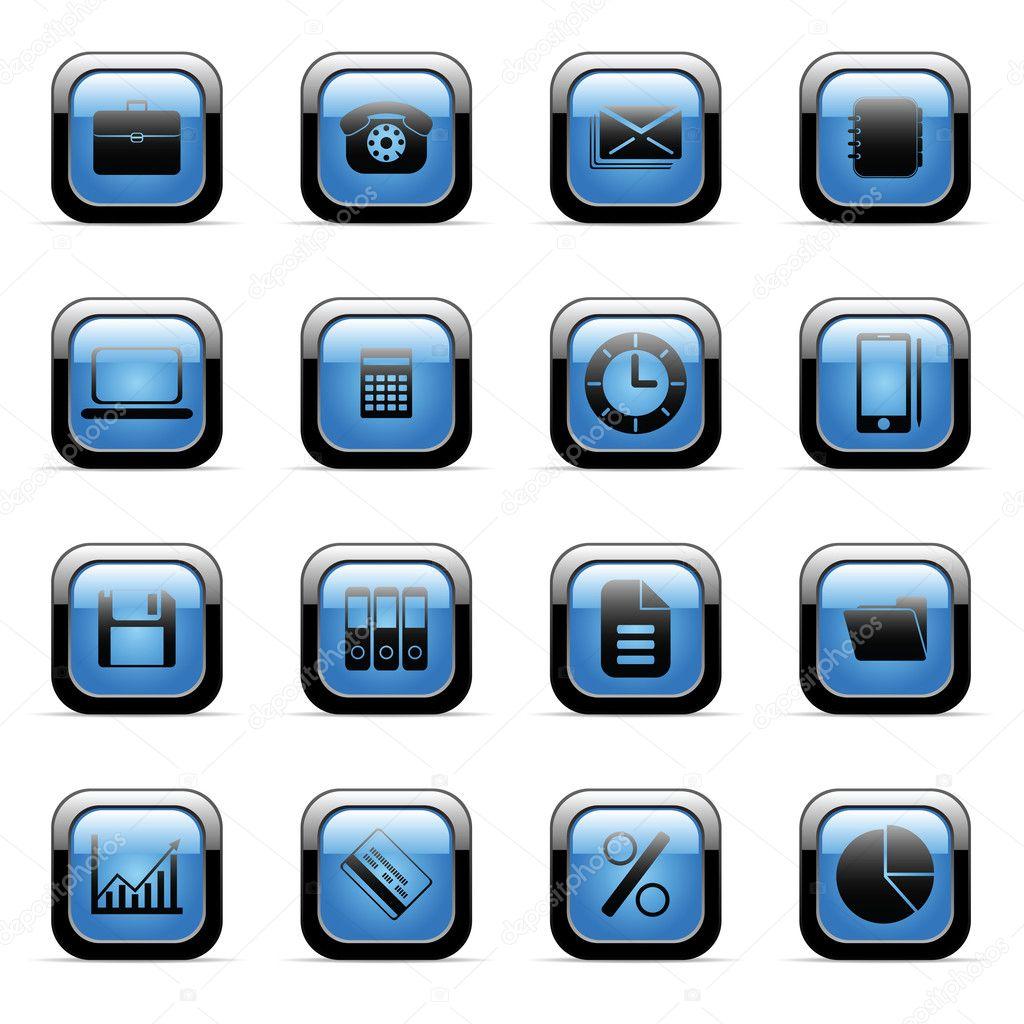 Blue icon set