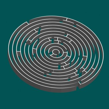 Tridimensional round maze