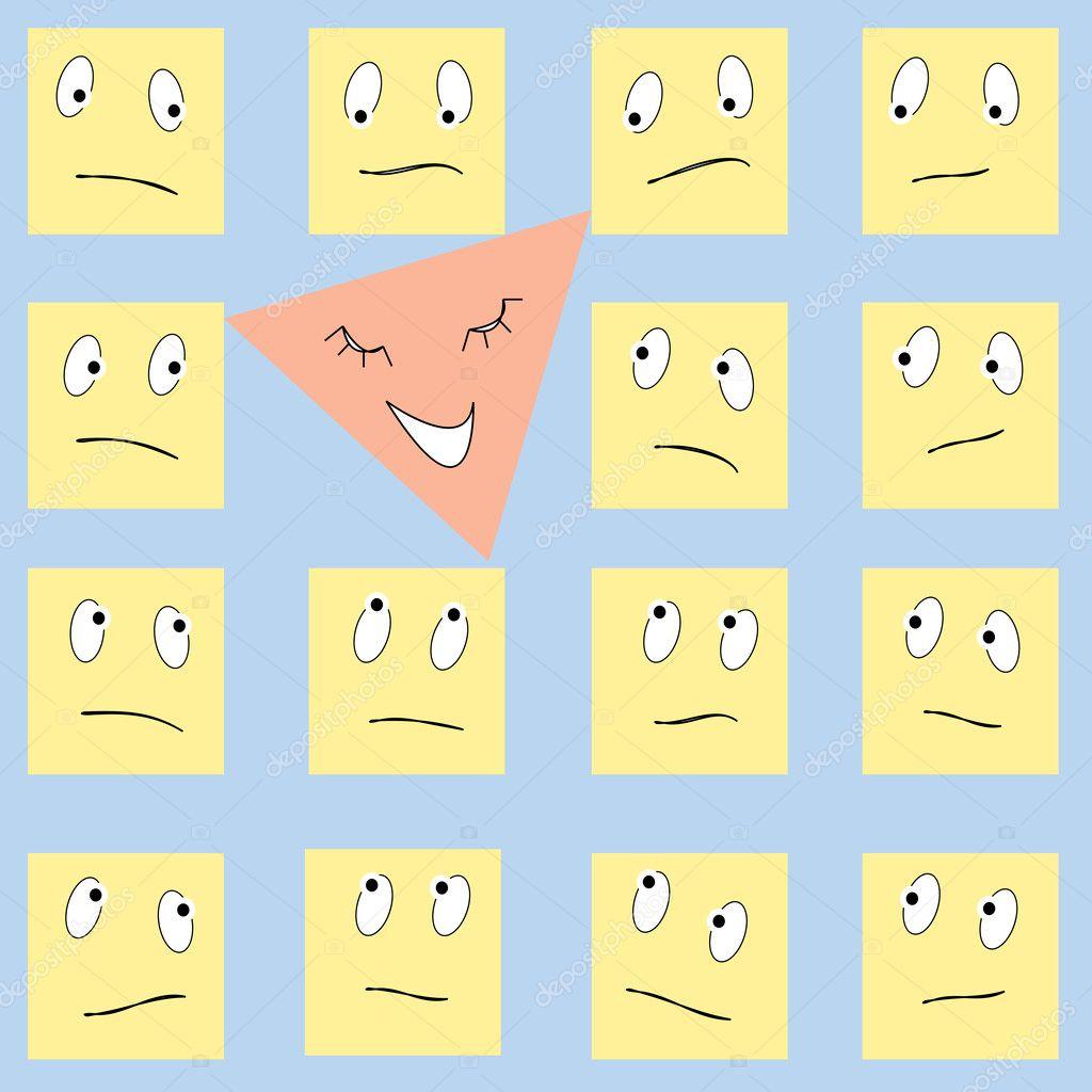 картинка грустного квадратиками адрес