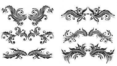 Vectorized Scroll Design. Elements can