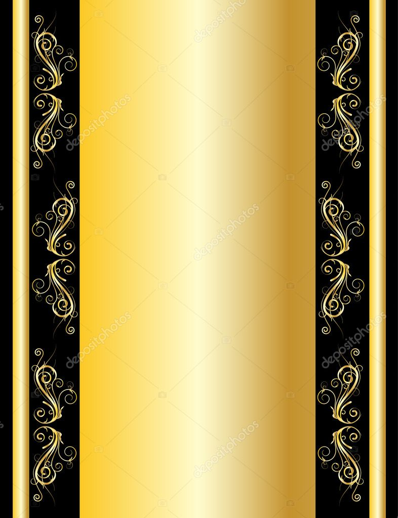 Vector gold wallpaper