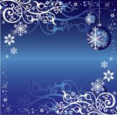 Blue and White Christmas Themed Pattern