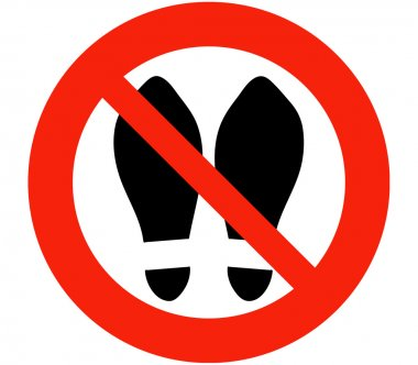 Shoes, Slippers Prohibited