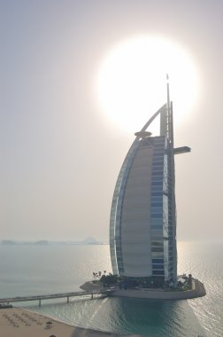 Burj al Arab hotel during sunset