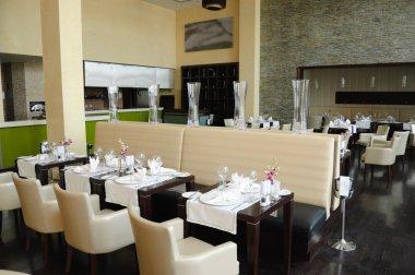 Restaurant in luxury hotel, Dubai, UAE