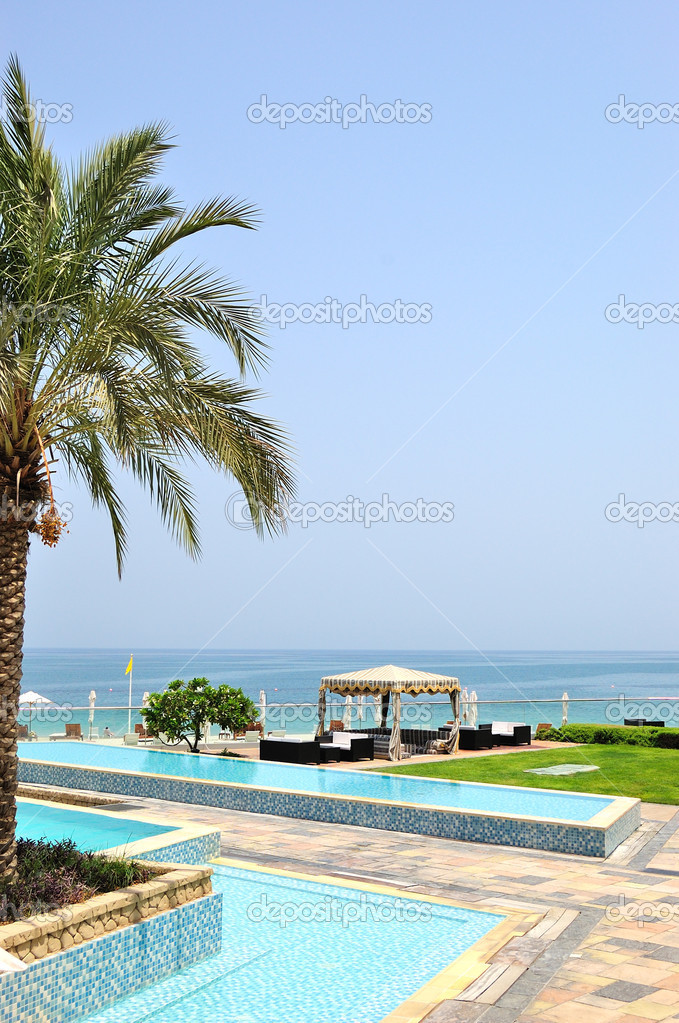 Hotel recreation area, Fujeirah, UAE