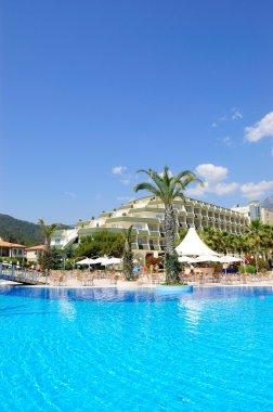 Swimming pool at hotel, Antalya, Turkey