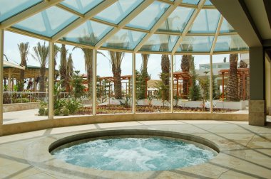 Jacuzzi at Mediterranean resort