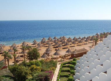 Beach at hotel in Sharm el Sheikh