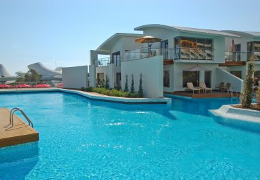 Swimming pool by the villa in hotel