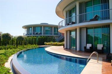 Modern villas at turkish resort
