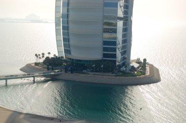 Burj al Arab hotel on man-made island