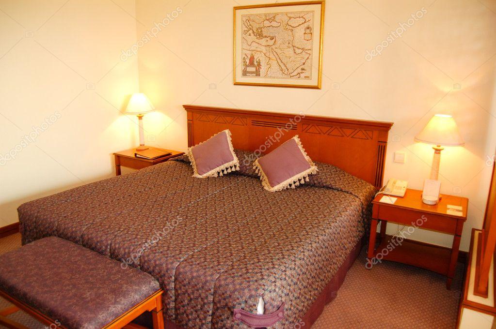 Schlafzimmer im beliebten Hotel, Dubai, Vereinigte Arabische Emirate ...