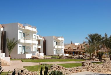 Villas at popular hotel, Sharm el Sheikh, Egypt