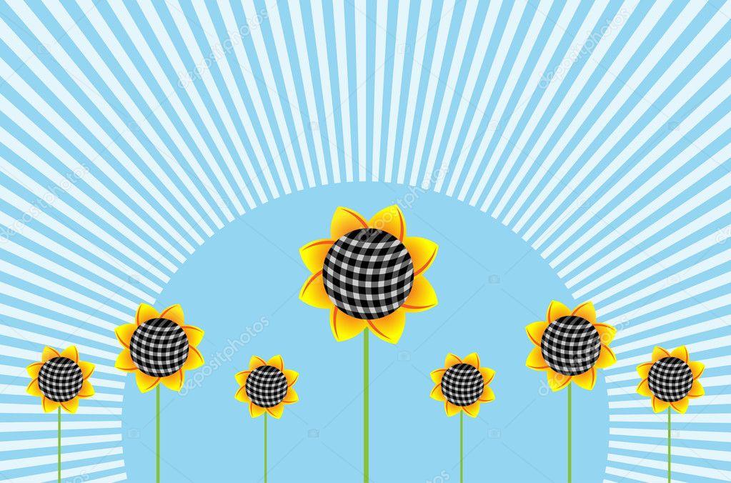 Sunflowers background horizonta