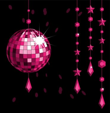Disco ball_red