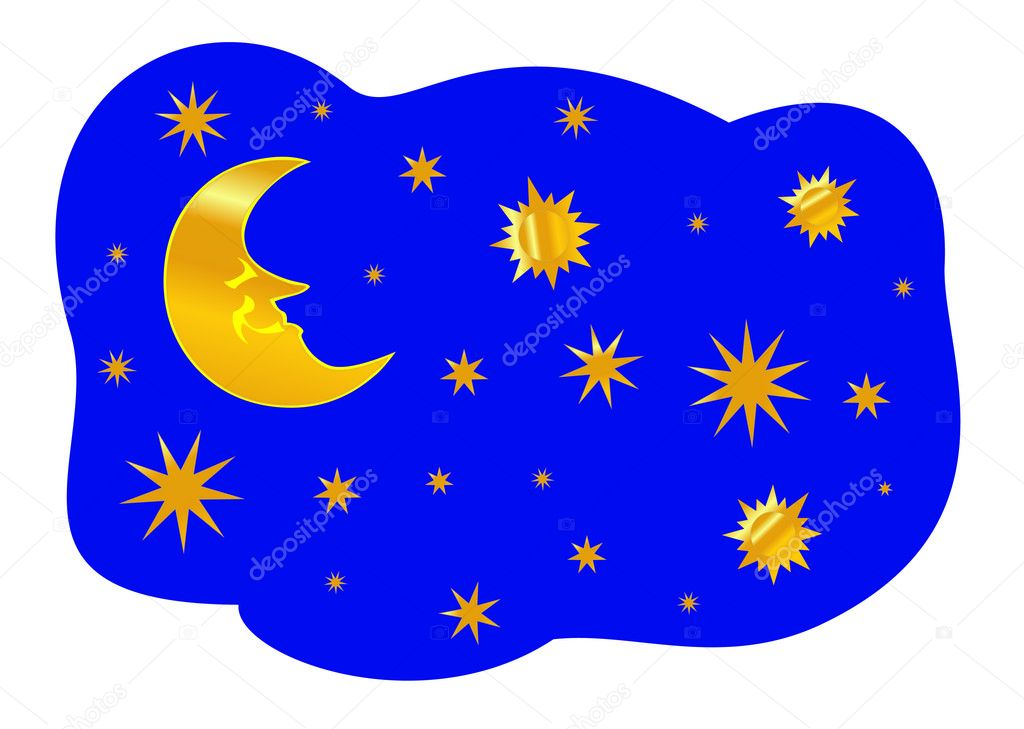 Night sky, vector