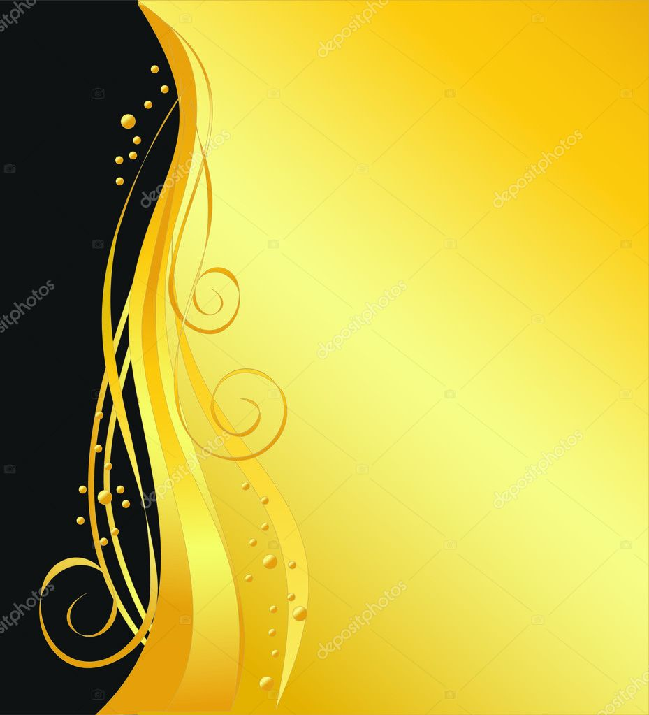 elegant vector black and gold background � stock vector