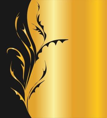 Arabesque on golden background
