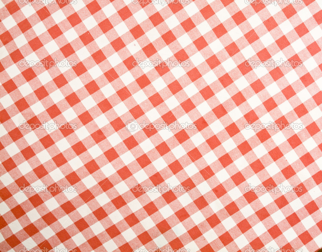 Tablecloth Texture Checked Fabric Stock Photo
