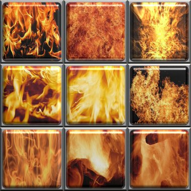 Fiery collage