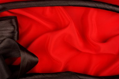 Red and Black Silk