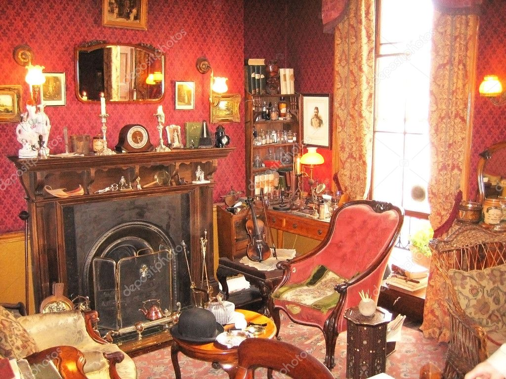 Klassiek Engels Interieur : De victoriaanse stijl u2014 stockfoto © uralsky #1302169