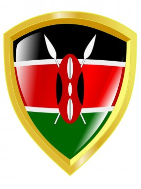 Golden emblem of Kenya