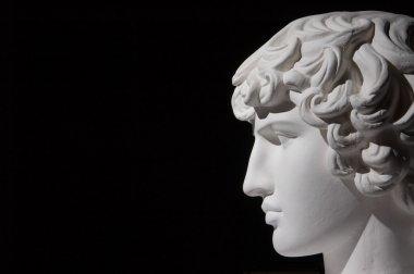 Plaster head of sculpture