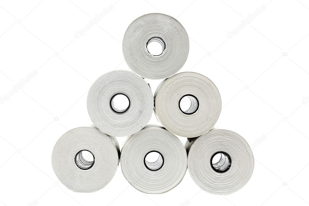 Six rolls of thermo paper — Stock Photo © Embosser #1290917