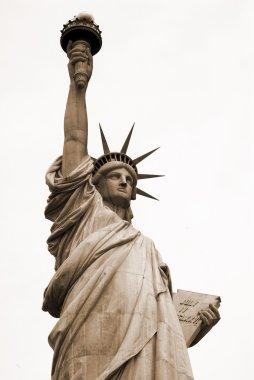 Statue of Liberty at New York USA sepia