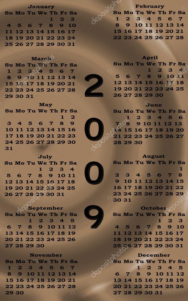 2009 naptár letöltés boldog új évet 2009 naptár szépia — Stock Fotó © Nikonite #1512551 2009 naptár letöltés