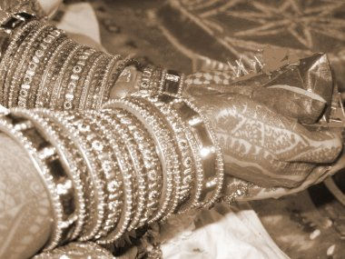 Bride in Indian Marriage sepia