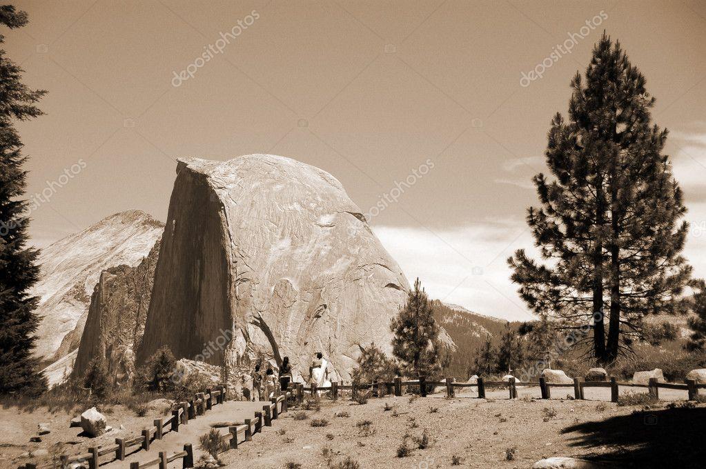 Half Dome at Glacier Point Yosemite National Par